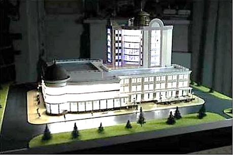 Административное здание г.Барнаул. Выполнено Новосибирским государственным архитектурно-строительным университетом.